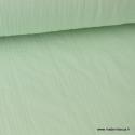 Tissu Double gaze coton vert menthe clair