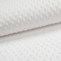 Tissu minky POIS BLANC