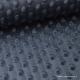 Tissu minky POIS GRIS ANTHRACITE x50cm
