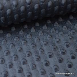 Tissu minky POIS GRIS ANTHRACITE .x1m