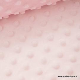 Tissu MINKY POIS coloris rose .x1m