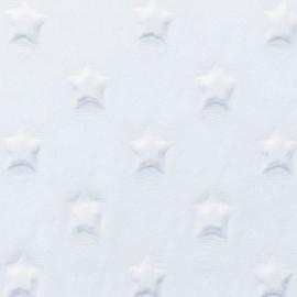 Tissu minky étoiles blanc cassé