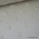Tissu minky ETOILES TAUPE x50cm