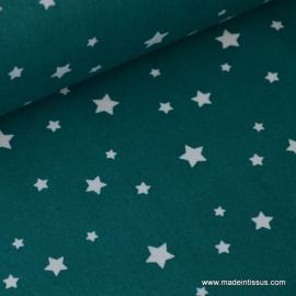 Tissu coton oeko tex imprimé étoiles canard