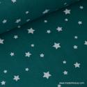 Tissu coton oeko tex imprimé étoiles canard .x1m