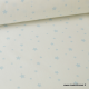 Tissu Coton oeko tex imprimé étoiles ciel fond blanc au mètre