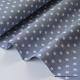 Tissu popeline coton gris étoiles blanches