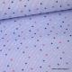 Popeline Stretch à rayures bleus et blanches imprimé étoiles