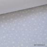 Tissu coton oeko tex imprimé dessin étoiles blanc sur fond blanc