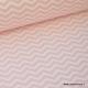 Tissu coton oeko tex imprimé chevrons zigzag rose  au mètre