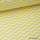 Tissu 100% coton dessin zigzag chevrons CITRON  x50cm