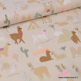 Tissu coton RICO design collection ALPACA Lamas
