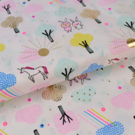 Tissu coton RICO design WONDERLAND UNICORN