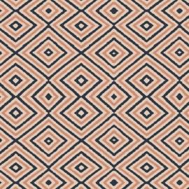Popeline coton imprimé Formes géométriques rose et bleu ART GALLERY DESIGNER  .x1m