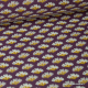 Tissu coton imprimé Fleurs Ginkgo Prune et Canelle Oeko tex