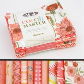 Lot de 10 coupons de tissus en Coton ART GALLERY thème Corail