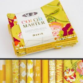 Lot de 10 coupons de tissus en Coton ART GALLERY thème Moutarde