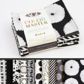 Lot de 10 coupons de tissus en Coton ART GALLERY thème Noir