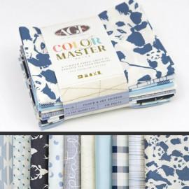 Lot de 10 coupons de tissus en Coton ART GALLERY thème Bleu