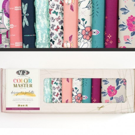 Lot de 10 coupons de tissus en Coton ART GALLERY thème by Maureen Carcknell