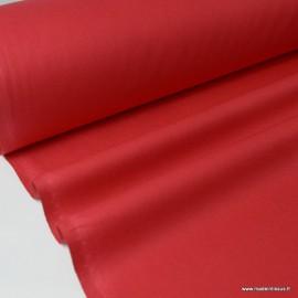 Tissu Popeline coton oeko tex uni Rouge