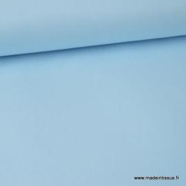 tissu Popeline coton oeko tex uni bleu ciel