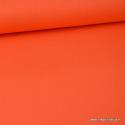 tissu Popeline coton oeko tex uni orange clair