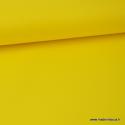 tissu Popeline coton oeko tex uni jaune citron
