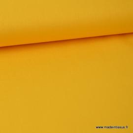 tissu Popeline coton oeko tex uni jaune au mètre
