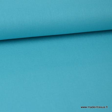 Tissu Popeline coton oeko tex uni turquoise au mètre
