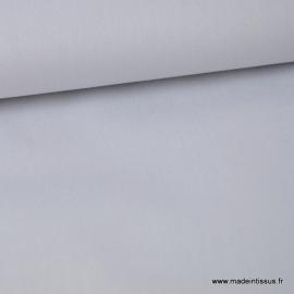 Tissu Popeline coton uni gris clair
