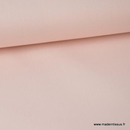 Tissu Popeline coton oeko tex uni rose poudré au mètre