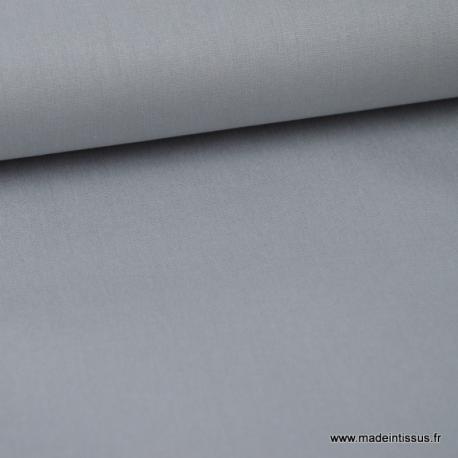 Popeline coton uni gris