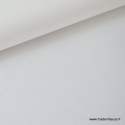 Tissu Popeline coton uni blanc