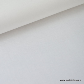Tissu Popeline coton uni blanc .x1m