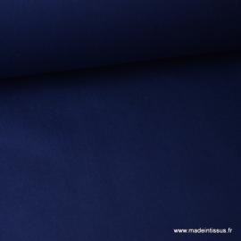 Tissu Popeline coton uni marine .x1m