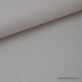 Tissu Popeline coton oeko tex uni gris .x1m