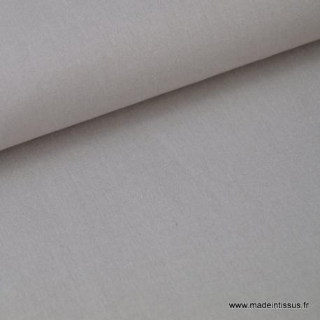 Tissu Popeline coton oeko tex uni gris au mètre