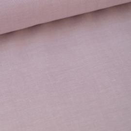 Tissu popeline coton uni tissé teint chambray coloris Parme . x1m