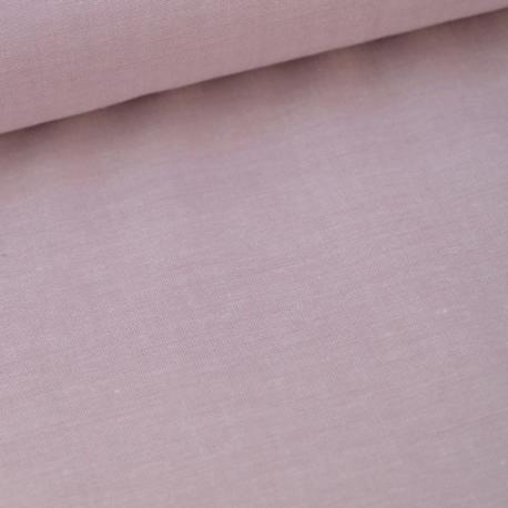 Tissu popeline coton uni tissé teint chambray coloris Parme