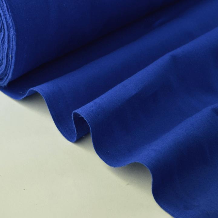 Tissu cretonne coton bleu royal par 50cm