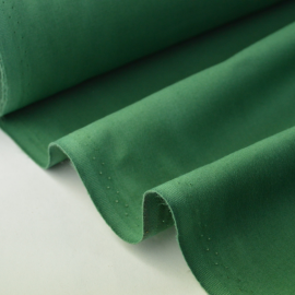 Tissu cretonne coton vert bouteille