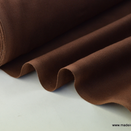 Tissu cretonne coton Oeko tex chocolat