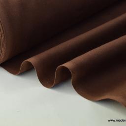 Tissu cretonne coton Oeko tex  chocolat au mètre