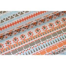 tissu popeline coton imprimé teko indien .x1m