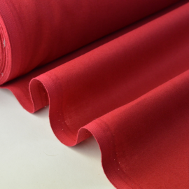 Tissu cretonne coton rouge hermès .x1m