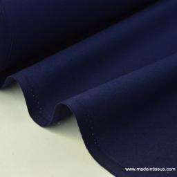 Tissu cretonne coton Oeko tex  marine au mètre