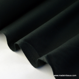 Tissu cretonne coton noir .x1m