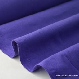 Tissu cretonne coton violet
