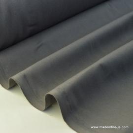 Tissu cretonne coton gris